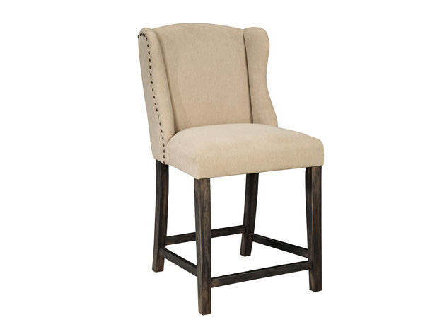 2pcs Moriann Light Beige Upholstered Barstool Shop For