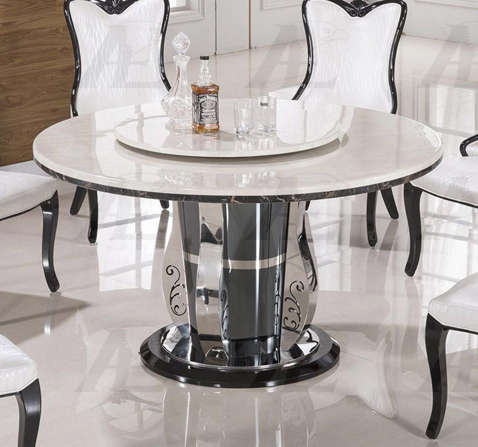 White Marble Top Round Dining Set Shop for Affordable