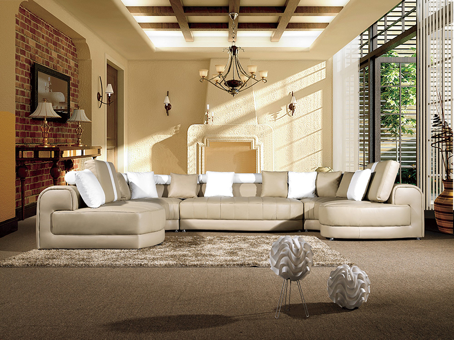 5pcs Light Tan White Sectional Sofa Shop For Affordable Home