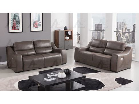 sc 1 st  Muuduu Furniture & Taupe Full Italian Leather Recliner Sofa Set islam-shia.org