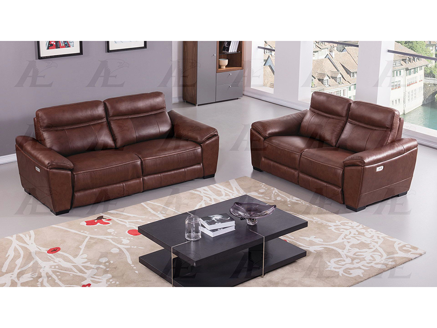 Brown Full Italian Leather Recliner Sofa Set - Shop for Affordable ...