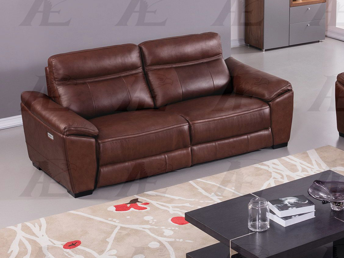 Brown Full Italian Leather Recliner Sofa - Shop for Affordable Home ...