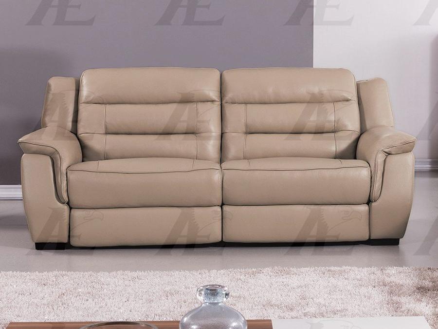 Tan Full Italian Leather Recliner Sofa