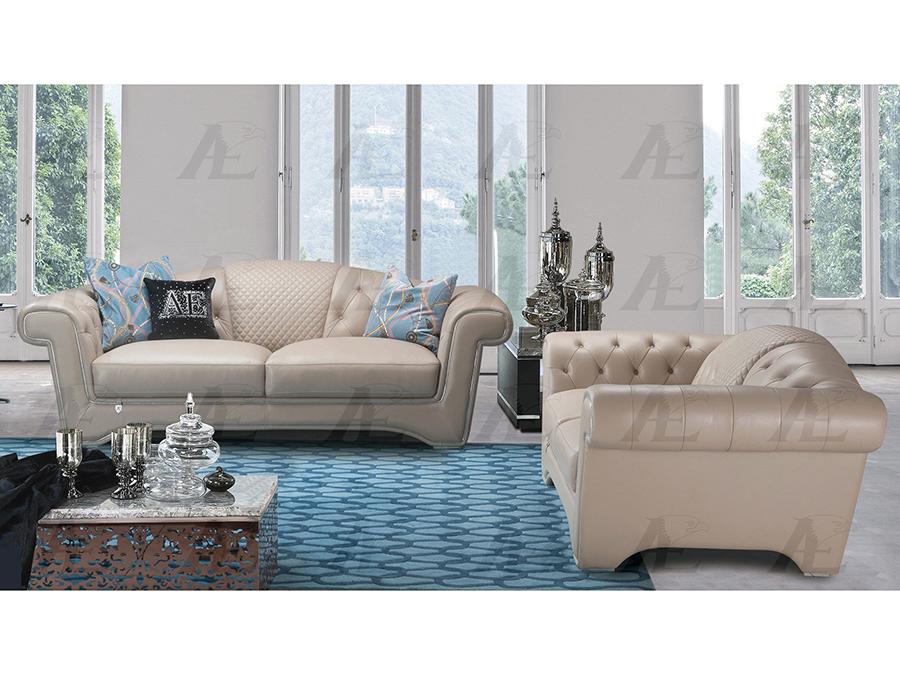 Peach Italian Leather Sofa Set - Shop for Affordable Home Furniture ...