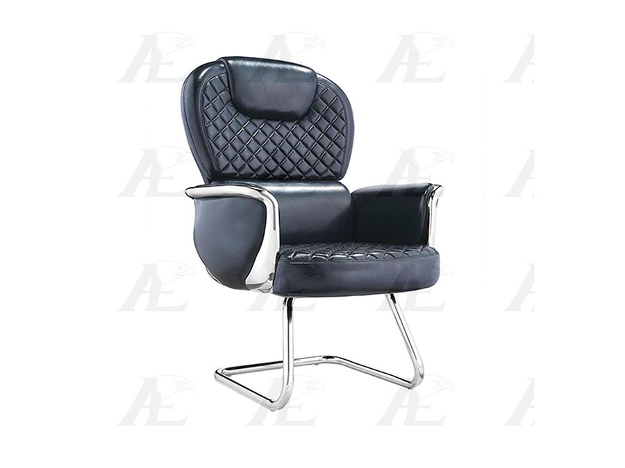 Charmant Full Italian Leather Conference Chair