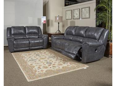 Persiphone Charcoal Sofa Set