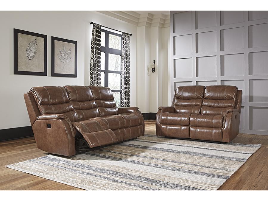 Metcalf Nutmeg Power Reclining Sofa Set