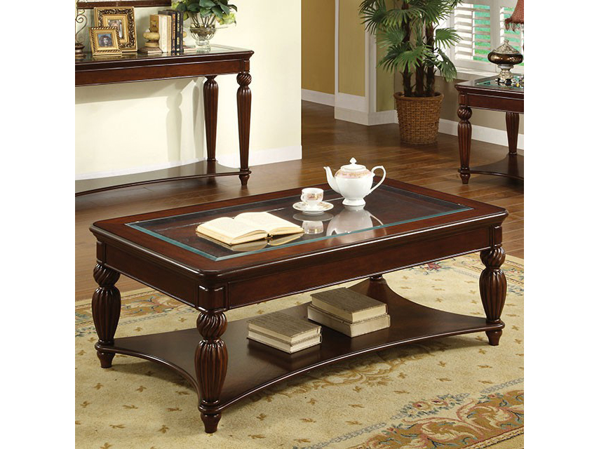 Windsor Dark Cherry Finish Coffee Table