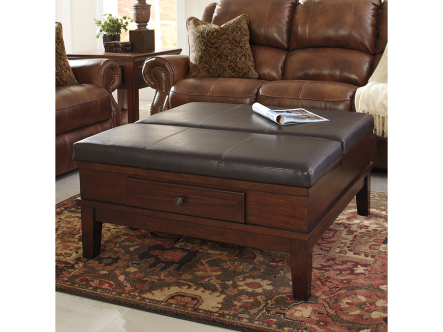 Gately Medium Brown Ottoman Cocktail Table Shop For Affordable Home Furniture Decor Outdoors