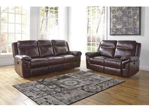 Zephen Mahogany Reclining Living Room Set Shop For