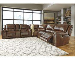 jayron leather power reclining sectional set