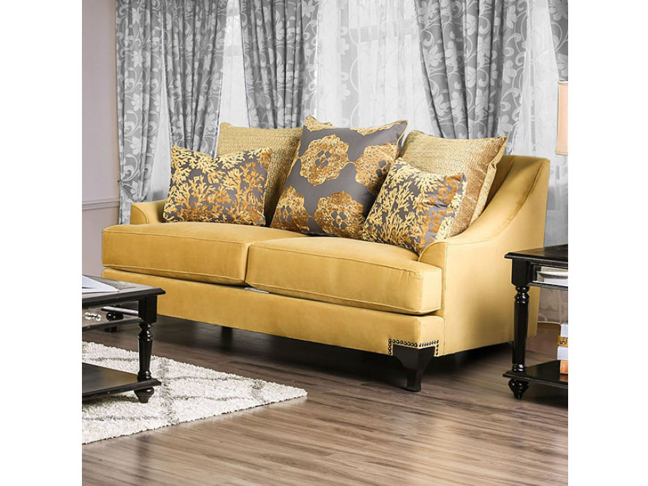 Amazing Viscontti Gold Sofa Set