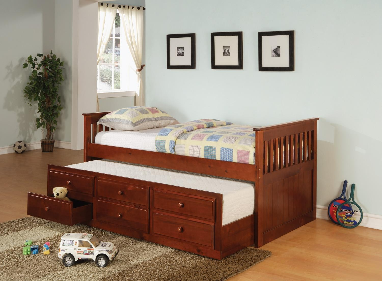 Alvin Cherry Twin Captain Daybed with Trundle   Shop for
