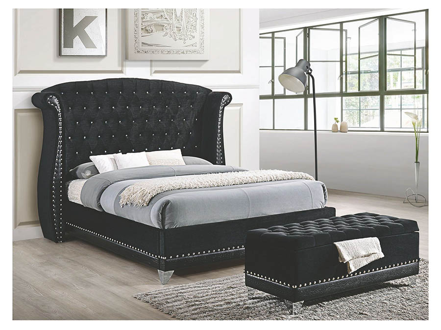 nightstands modrest opal east king platform bed low oak japanese profile eastern frame vig a vgkcopal with mattress black