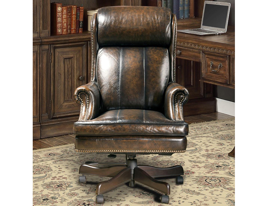Prestige Black And Brown Leather Desk Chair