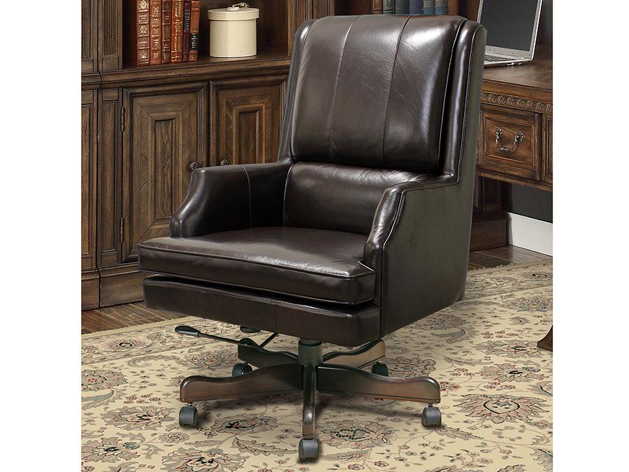 Prestige Sable Leather Desk Chair Shop For Affordable