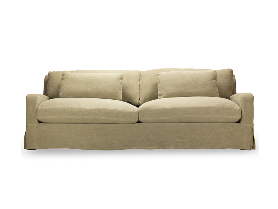 Hampton natural 96 slip cover sofa shop for affordable for Affordable furniture orange tx