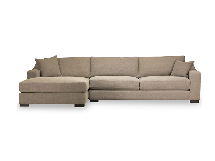 Brandon toast sectional w left chaise shop for for Affordable furniture brandon