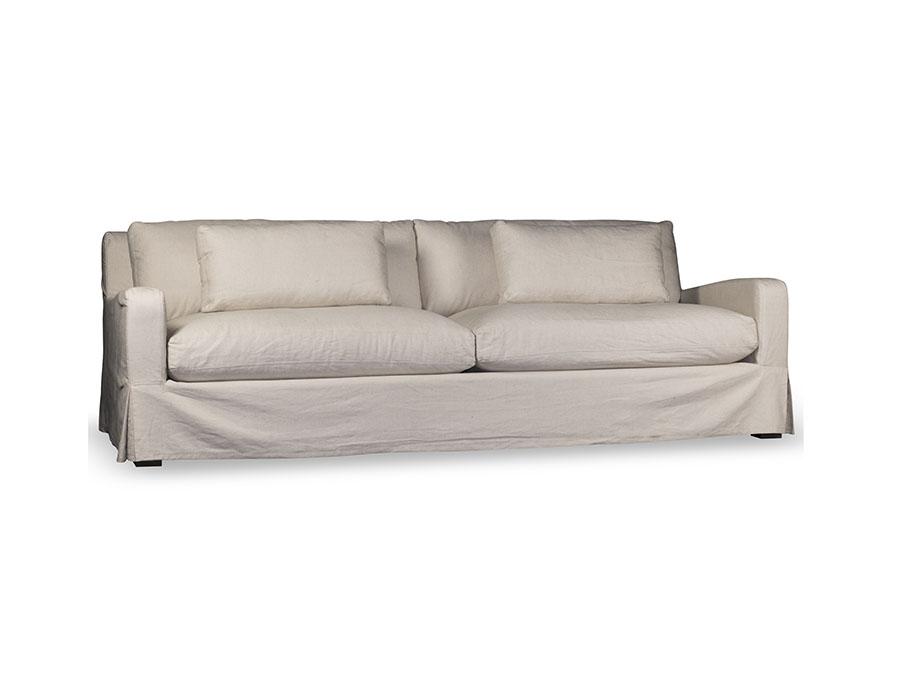 Hampton light linen 96 slip cover sofa shop for for Affordable furniture orange tx