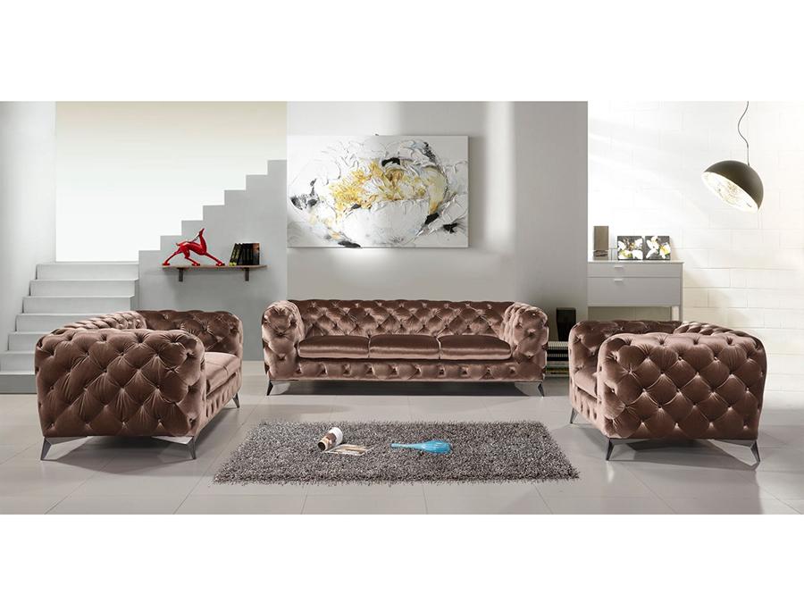 Bradley Brown Fabric Sofa Set