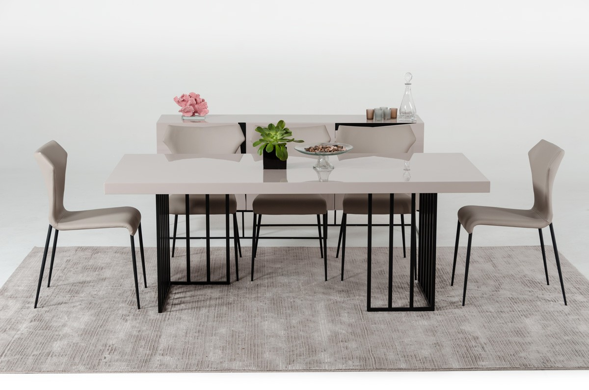 Grey Gloss Dining Set