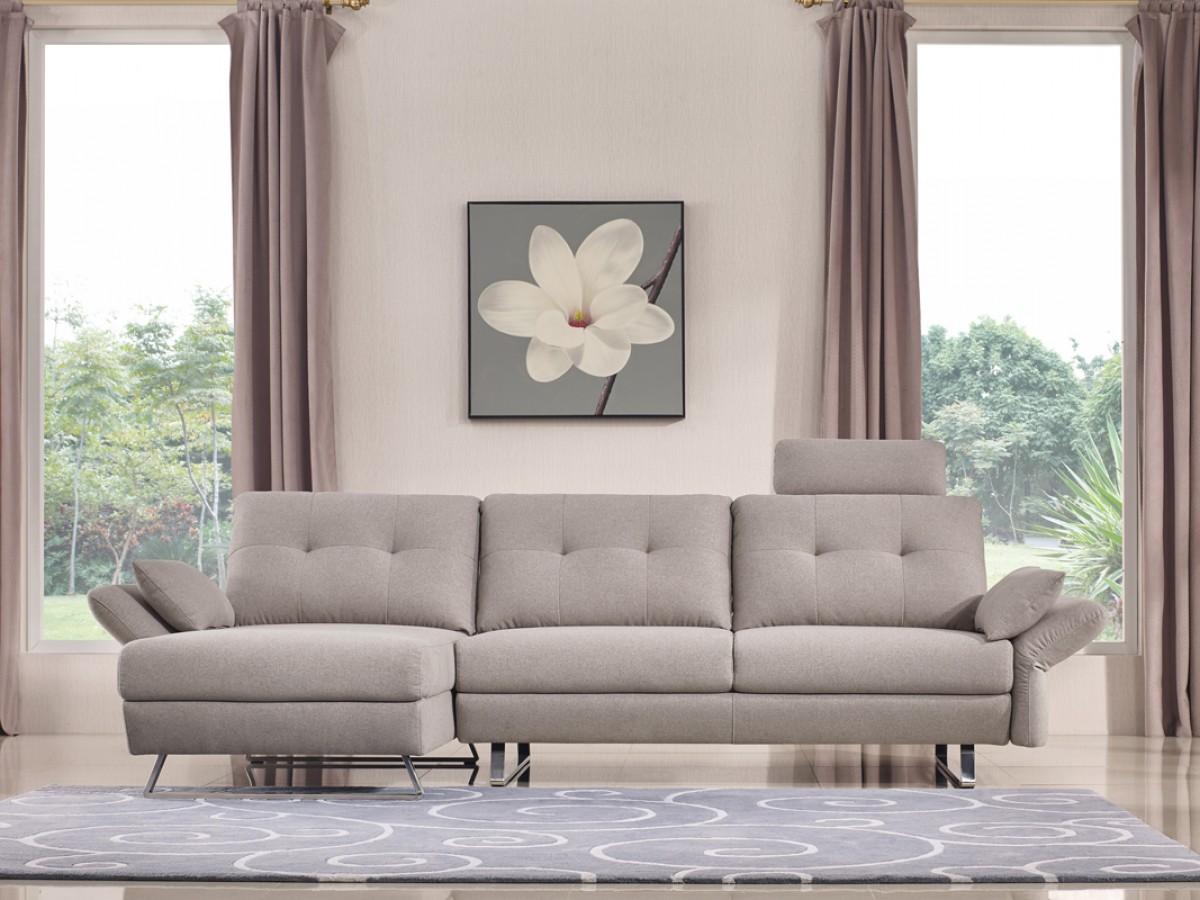 Payne Grey Fabric Sectional Sofa