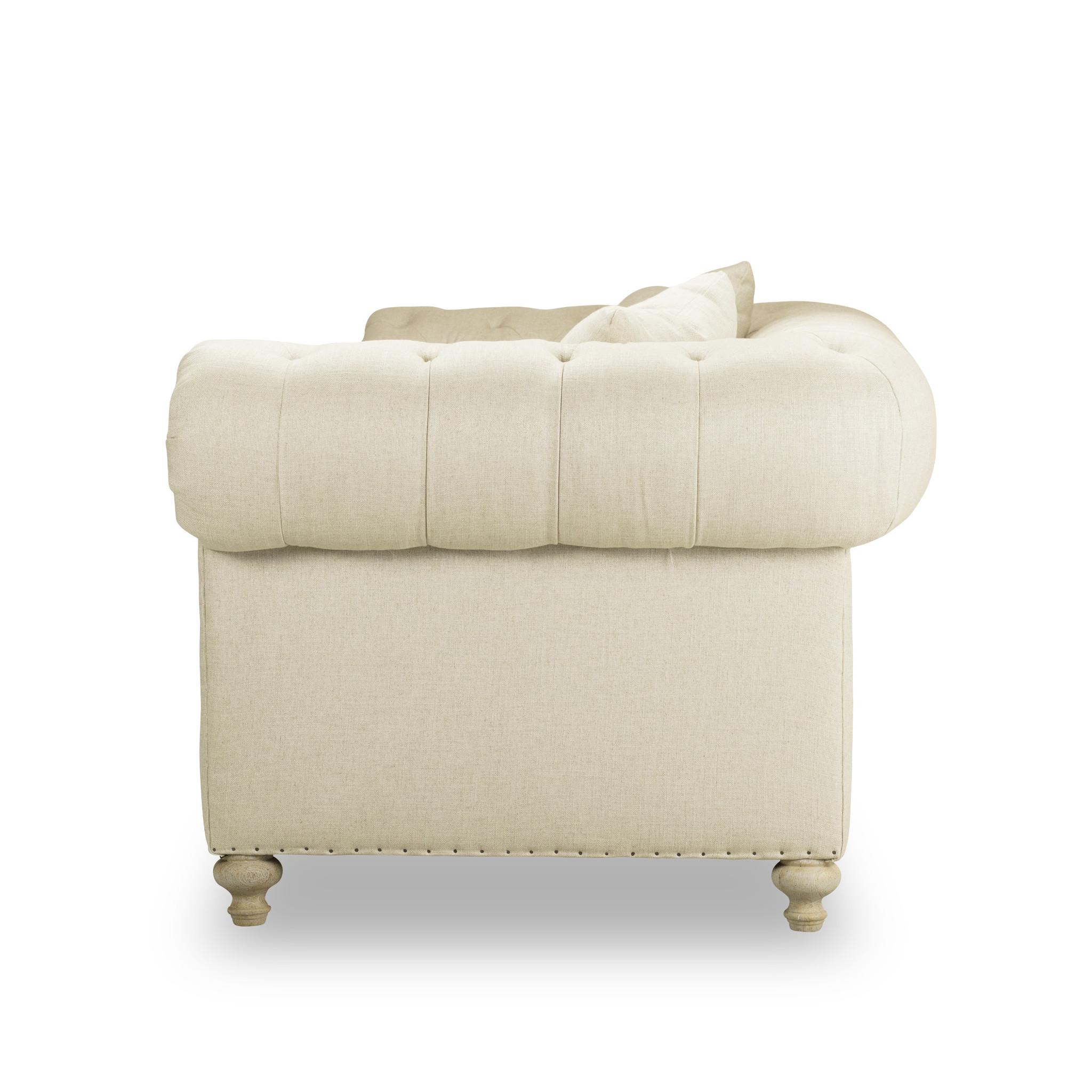 Greenwich Natural Ecru 96u2033Tufted Sofa