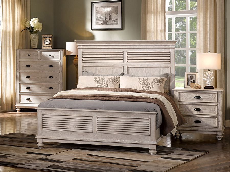 Perfect Lakeport Driftwood Queen Bed