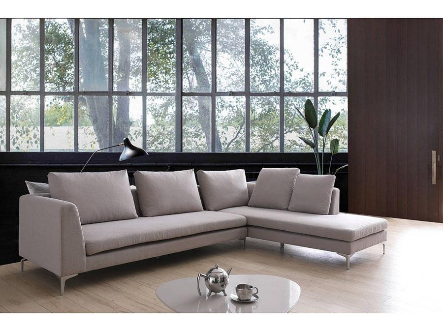 Casa Austell Grey Fabric Sectional Sofa