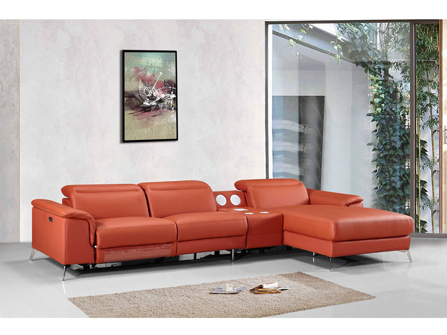 Archibald Sectional Sofa w Recliner Shop for Affordable Home