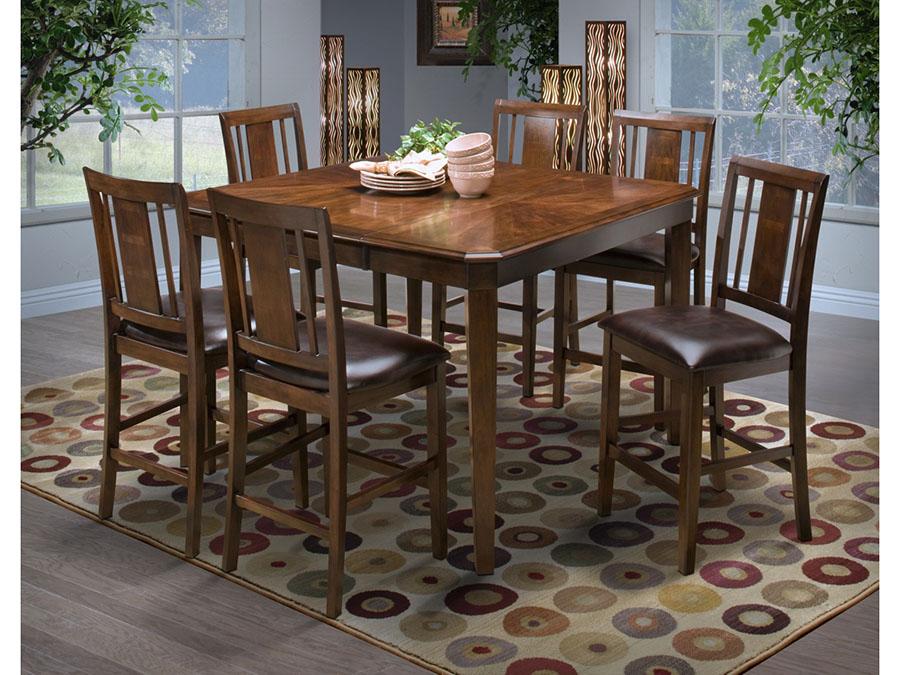 Ordinaire Latitudes Cut Corner Counter Height Dining Set