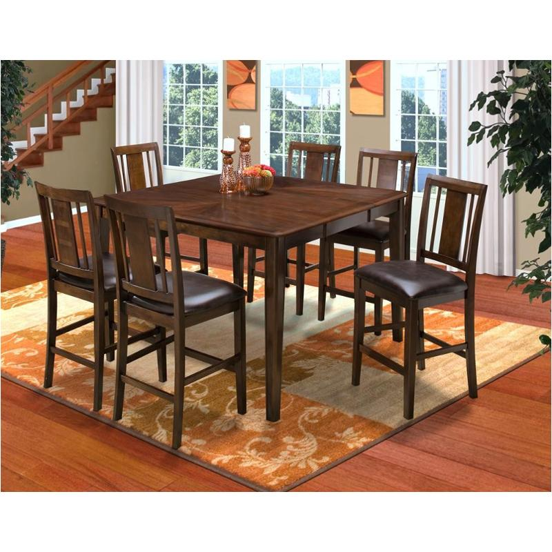 Laudes Round Corner Counter Height Dining Set