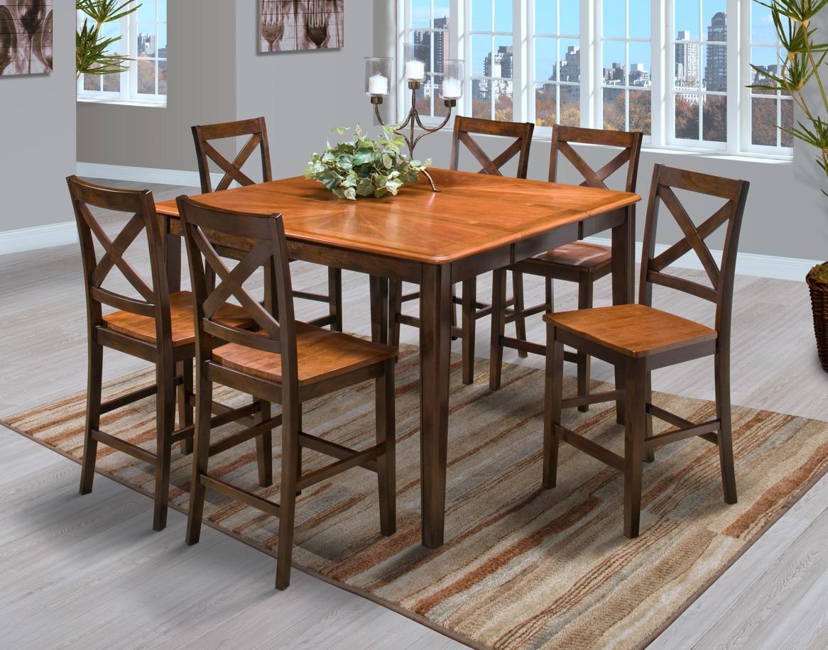 Latitudes round corner counter dining set in two tone shop for latitudes round corner counter dining set in two tone watchthetrailerfo