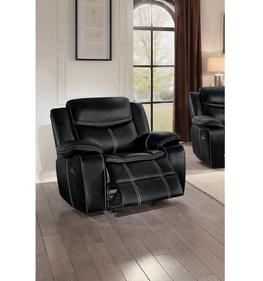 Bastrop double reclining chair in black