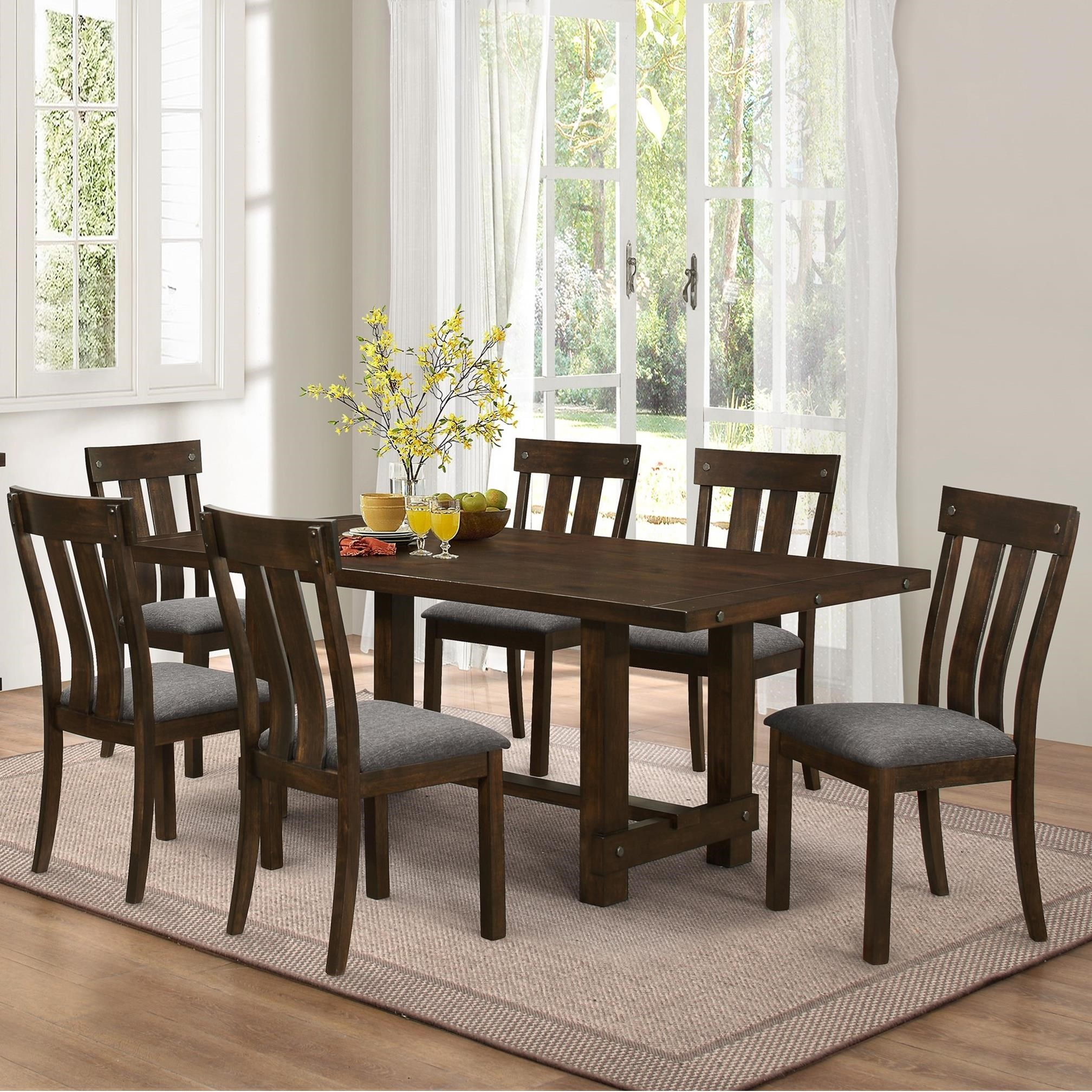 Frisco Rectangular Standard Dining Table in Antique