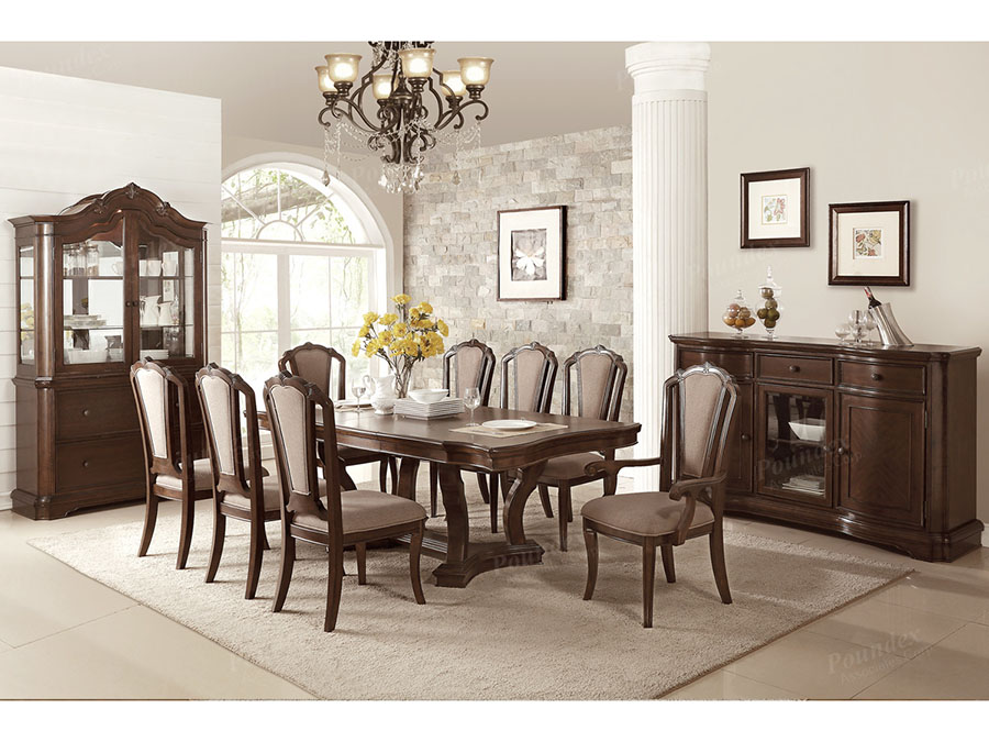 Birch Wood Dining Set In Cherry