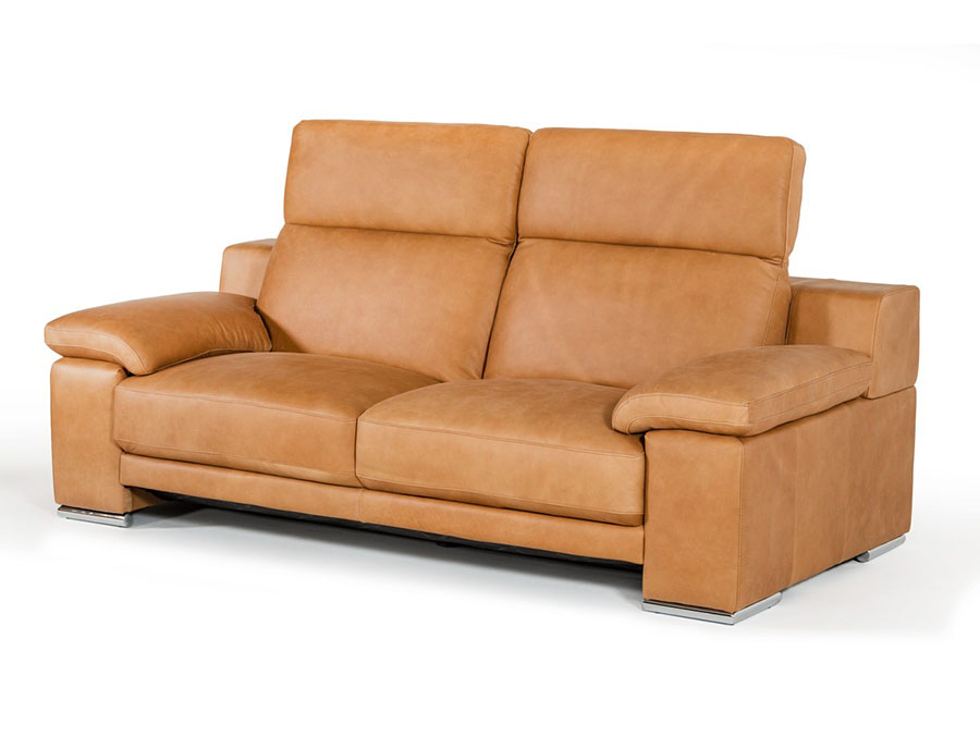 Cognac Leather Sofa Set