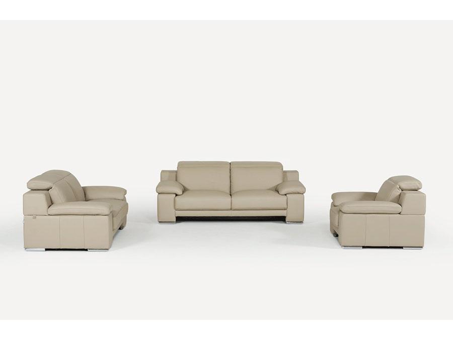 Taupe Leather Sofa Set