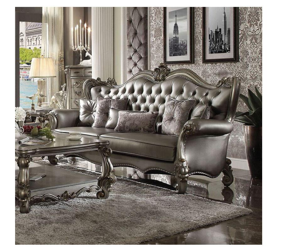 Versailles Silver Sofa