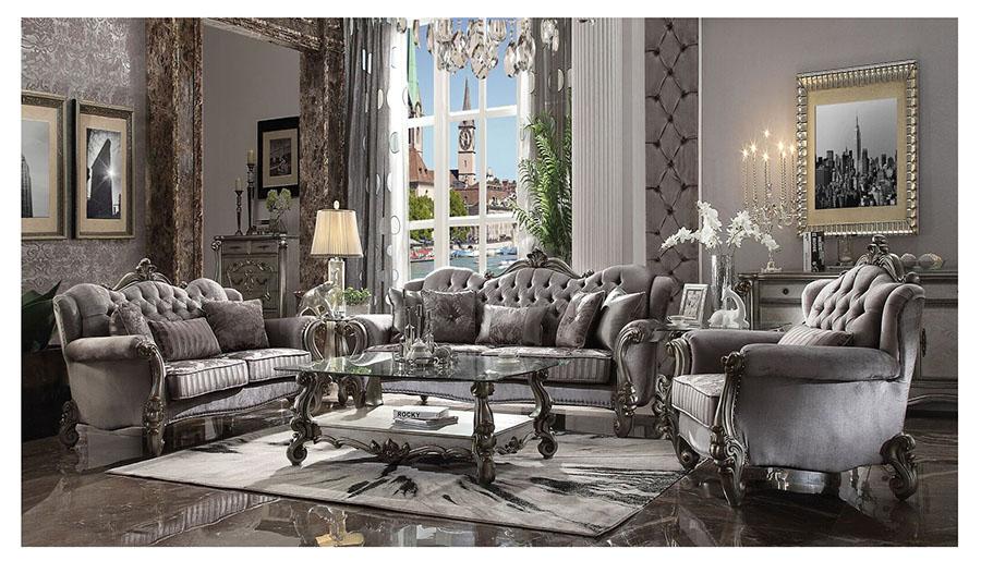 Versailles Antique Platinum Sofa Set Shop For Affordable Home Furniture Decor Outdoors And More