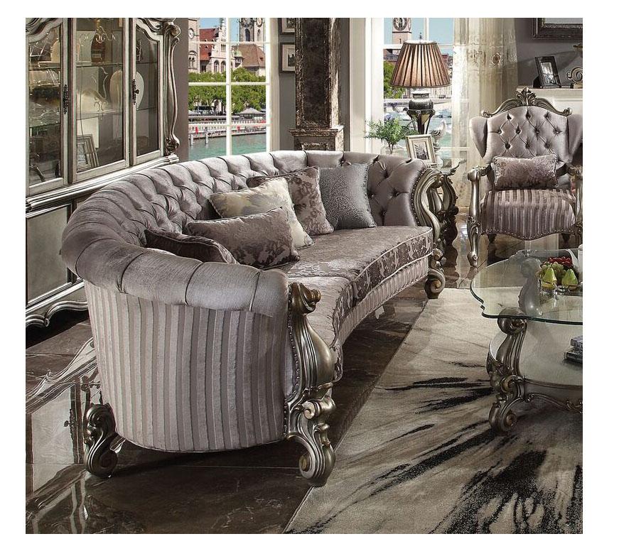 Versailles Antique Platinum Sofa
