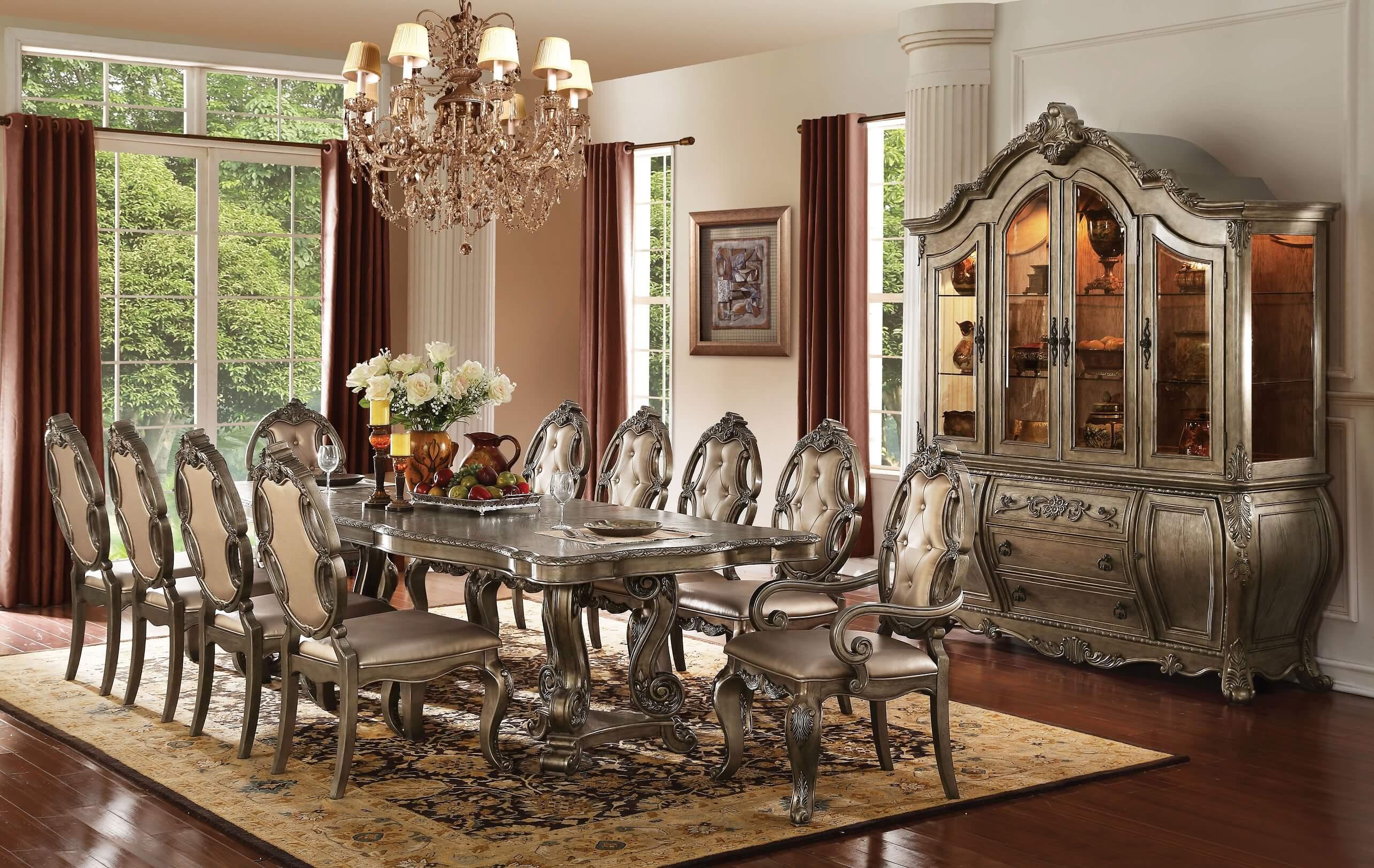 Ragenardus Formal Dining Set In Vintage Oak