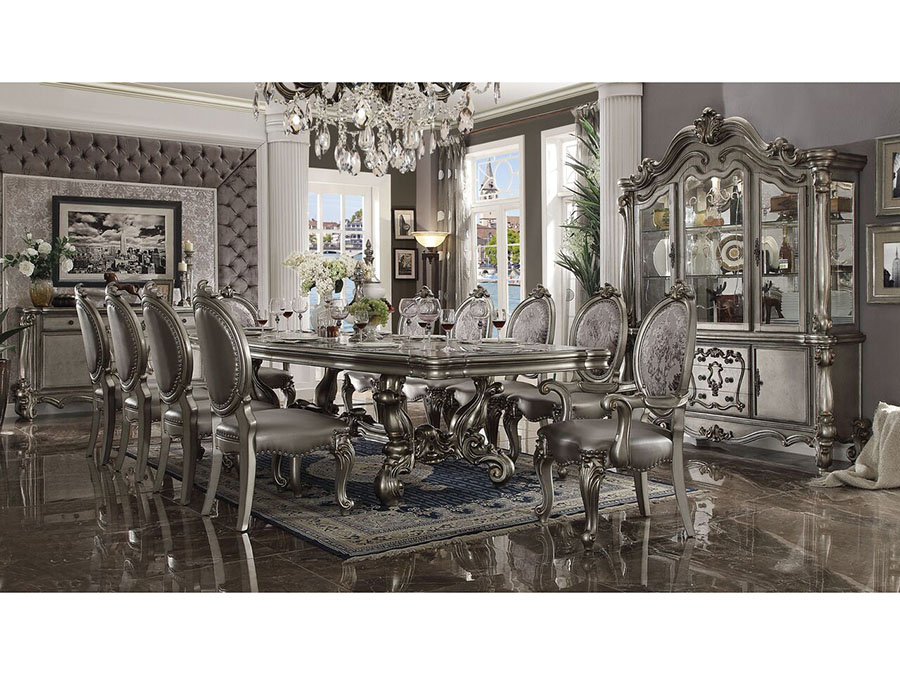 Versailles Antique Platinum Dining Set
