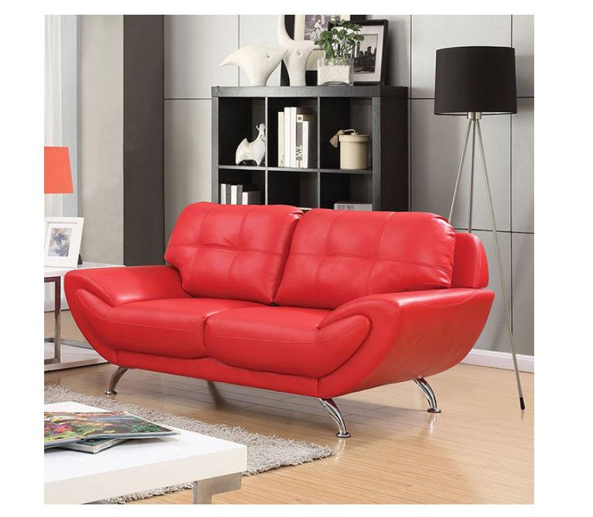 Reanna Red Sofa Set
