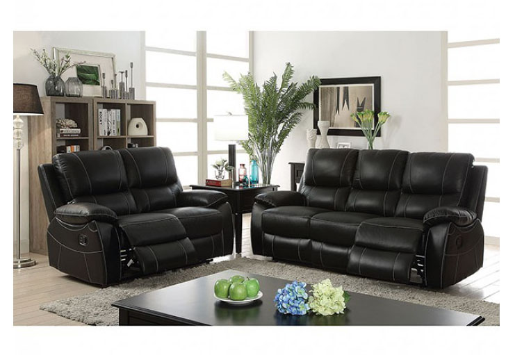 Nena Black Sofa Set