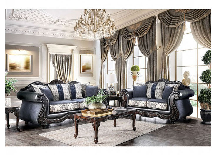 Amadeo Navy Sofa Set - Shop for Affordable Home Furniture, Decor ...
