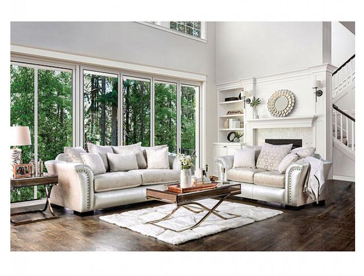 Benigno Pearl Sofa Set