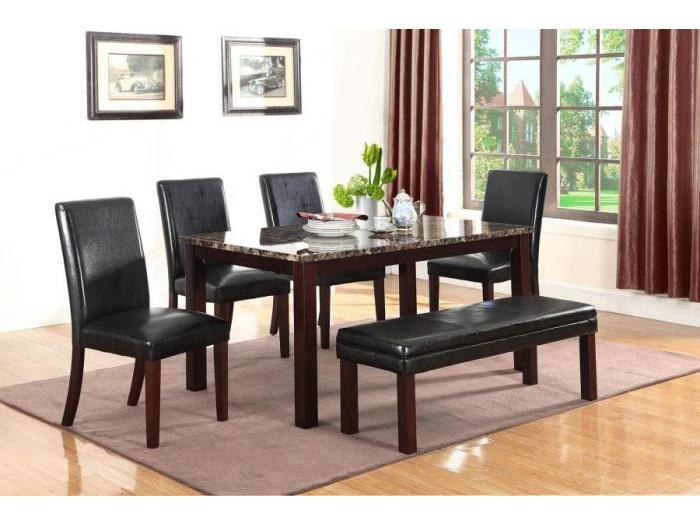 Tremendous Dark Brown Marble Top Dining Table Set Download Free Architecture Designs Ferenbritishbridgeorg