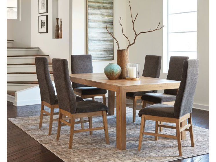 Delicieux Drifted Acacia Dining Table Set