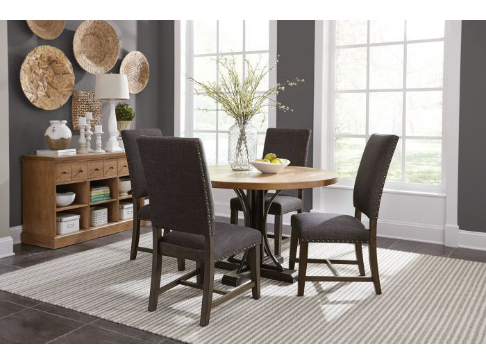 Drifted Pine Dark Coffee Dining Table Set